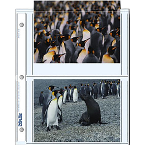"Print File Archival Storage Pages for Prints | 5 x 7"", 4 Pockets - 500 Pack"
