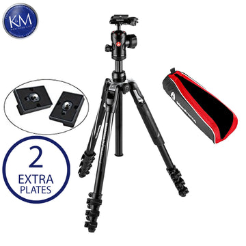 Manfrotto Befree Live Aluminum Video Tripod Kit with Twist Leg Locks and Two Replacement Quick Release Plates.
