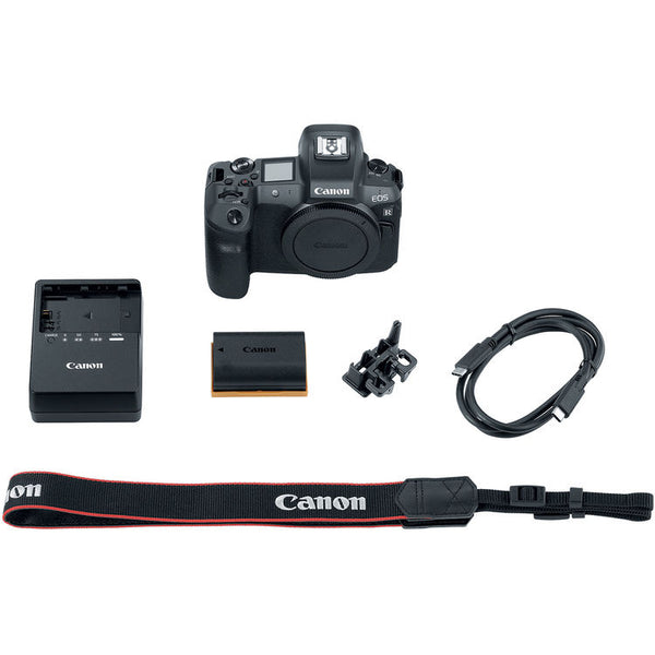 Canon EOS R Mirrorless Digital Camera (Body Only) with 64GB Memory and Flash Striker Deluxe Bundle