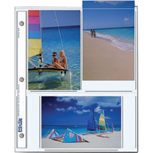 "Print File Archival Storage Pages for Prints | 4 x 6"", 6 Pockets - 25 Pack"