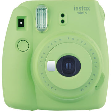 FUJIFILM INSTAX Mini 9 Instant Film Camera (Lime Green) with Memories Bundle: Includes – 30 FRESH Exposures, Magnetic Glitter Pegs, Hanging Wooden Holder, 20 Frame Stickers, and a photo album
