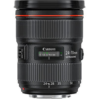 Canon EF 24-70mm f/2.8L II USM Lens w/ Advanced Lens Bundle