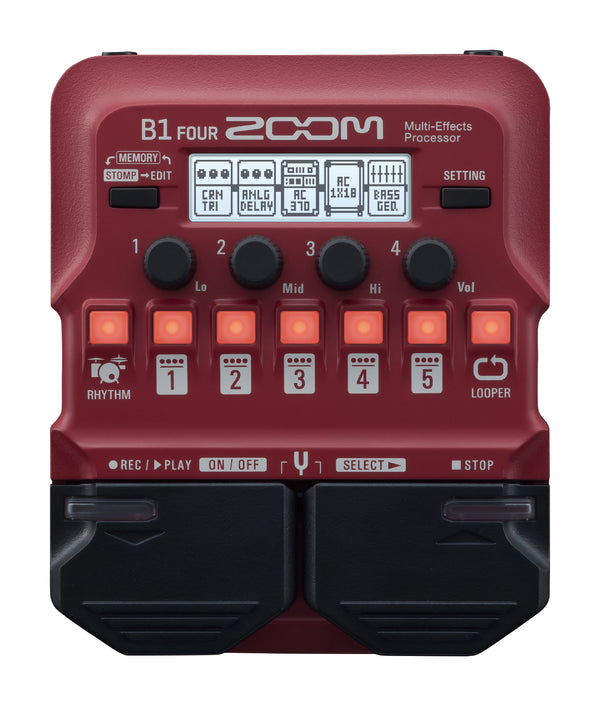 Zoom B1 FOUR Guitar Multi-Effects Processor