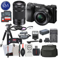 Sony Alpha a6100 Mirrorless Digital Camera with 16-50mm and 55-210mm Lenses and Striker Deluxe Bundle