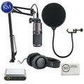 Audio Technica AT2020USB+PK Streaming/Podcasting Pack with Pop Filter and Portable Headphone Amplifier: Includes – AT2020USB+ Microphone, ATH-M20x Headphones, and Adjustable Studio Boom Arm.