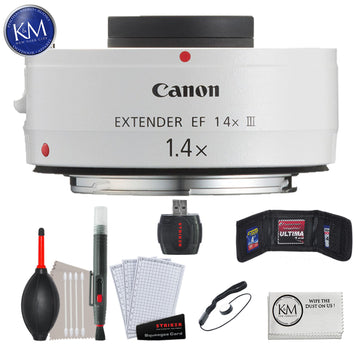 Canon Extender EF 1.4X III with Essential Striker Bundle: Includes – Cleaning Kit and Wipe.