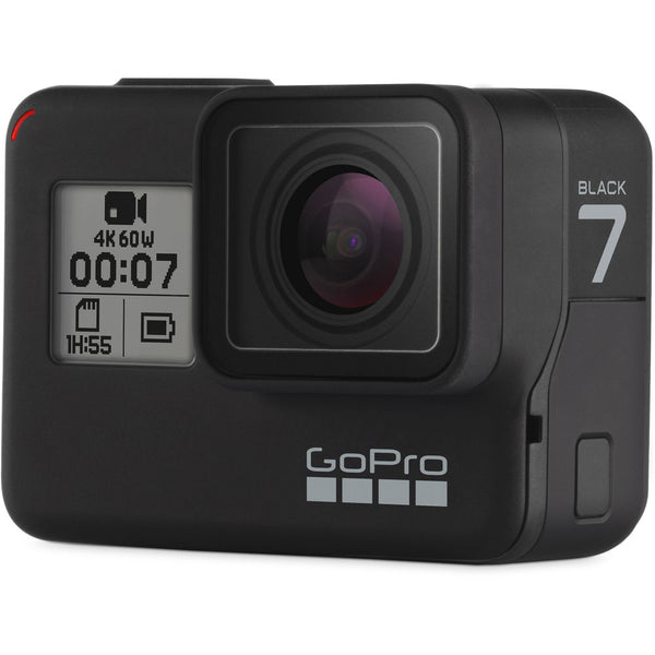 GoPro Hero 7 (Black) Action Camera w/ Dual Battery Charger and Extra Battery Bundle