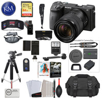 Sony Alpha a6600 Mirrorless Digital Camera with 18-135mm Lens with Premium Bundle: Includes – Sandisk Extreme Card, Spare NPFZ100 Battery, Charger for NPFZ100, and more!