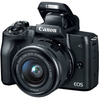 Canon EOS M50 Mirrorless Digital Camera with 15-45mm Lens Video Creator Kit (Black)