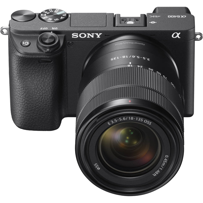 Sony Alpha a6400 Mirrorless Digital Camera with 18-135mm Lens Kit