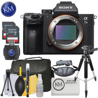 Sony Alpha a7 III Mirrorless Digital Camera (Body) + 64GB & K&M Photo Bundle