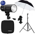 Profoto B10 Plus OCF Flash Head w/ Umbrella, Lightstand and Swivel Bundle