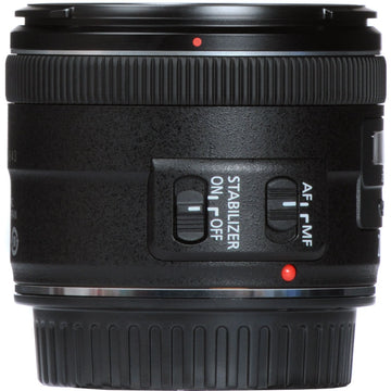 Canon EF 28mm f/2.8 IS USM Lens with Essential Striker Bundle: Includes – SD Card Reader, UV Filter, Cleaning Kit, and Lens Pouch.