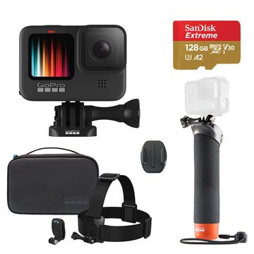 GoPro HERO9 Black Action Camera with GoPro Adventure Kit & 128GB Micro-SD Card