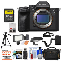Sony Alpha a7S III Mirrorless Digital Camera (Body Only) with Sony 64GB SF-G Tough UHS-II SDXC Memory Card + Extra Battery + Video Light + Condenser Microphone + Camera Bag & Large Tripod