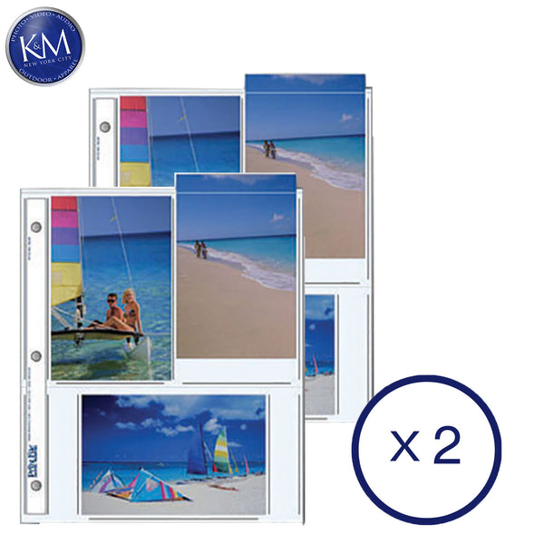 "Print File Archival Storage Pages for Prints | 4 x 6"", 6 Pockets - 25 Pack x 2"