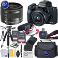 Canon EOS M50 Video Creator Kit w/ EF-M15-45mm Lens + 2x 32GB + K&M Photo Bundle