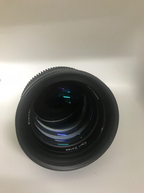 Used Contax Zeiss Plannar 85mm f/1.4 Lens for Canon EF Mount - Cine Modified - Declick - Used Very Good