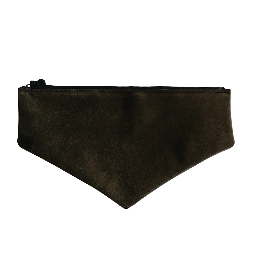 Dark Brown Suede Envelope Flap
