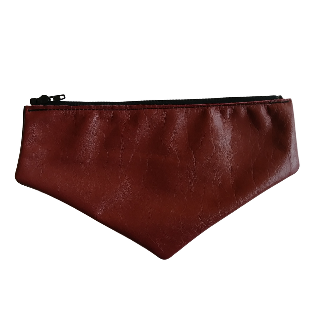 Dark Red Leather Envelope Flap