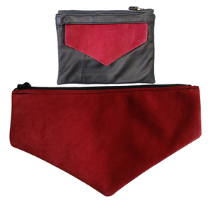 Red Suede Envelope Flap