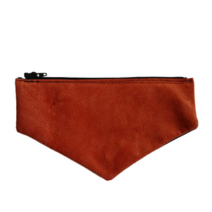 Orange Suede Envelope Flap