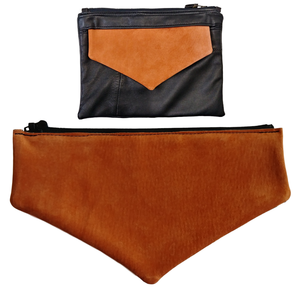 Light Orange Suede Envelope Flap