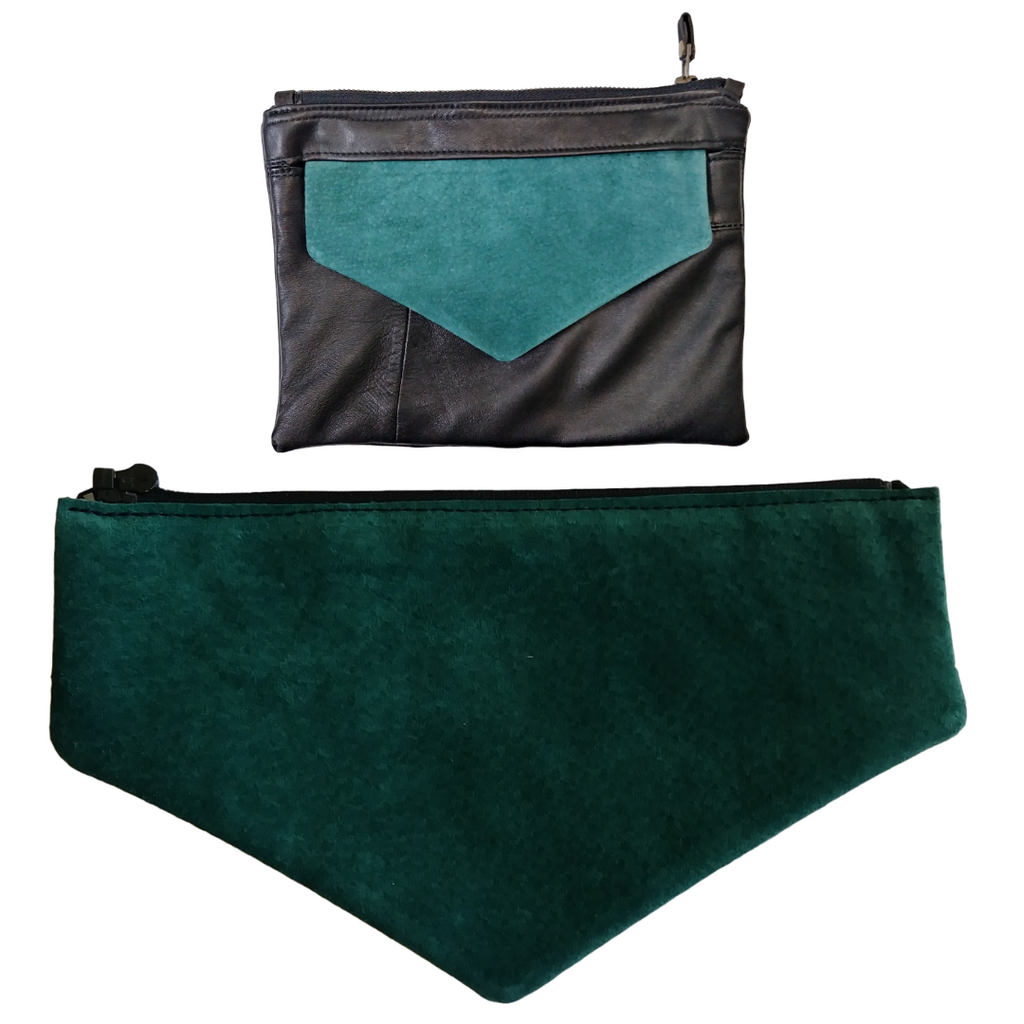 Teal Suede Envelope Flap