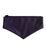 Dark Purple Leather Envelope Flap