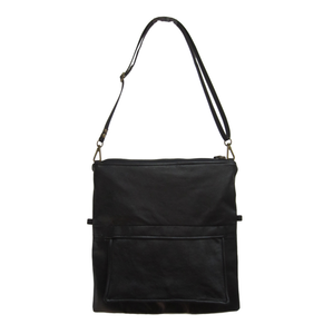 SUSIE Convertible Black Leather Crossbody