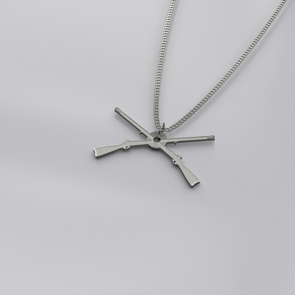 Infantry Cross Rifles Necklace