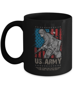 Stand For The Flag Kneel For The Fallen Coffee Mug