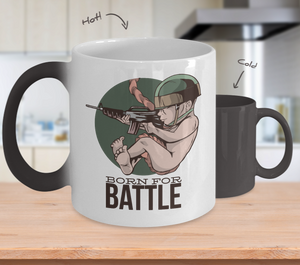 Born For Battle Color Changing Mug