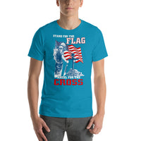 Short-Sleeve Unisex T-Shirt Stand For The Flag Kneel For The Cross