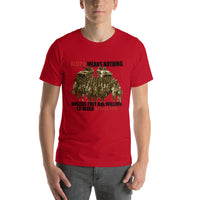 Short-Sleeve Men's T-shirts Blood Mean's Nothing Unless They Bleed Beside You
