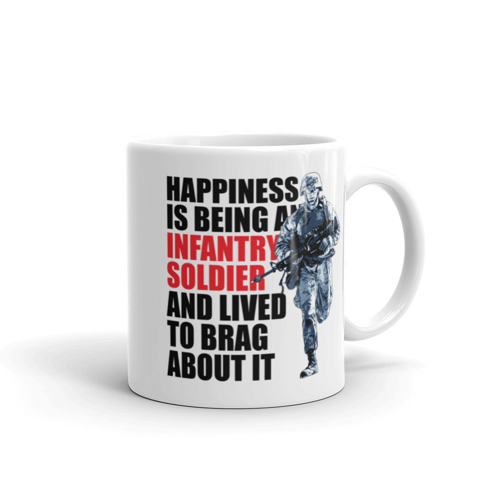 Coffee Mug Happiness being an Infantry Soldier