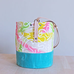 Special Edition Print Maker Bucket Bag with Adjustable Strap (1 Style Option)