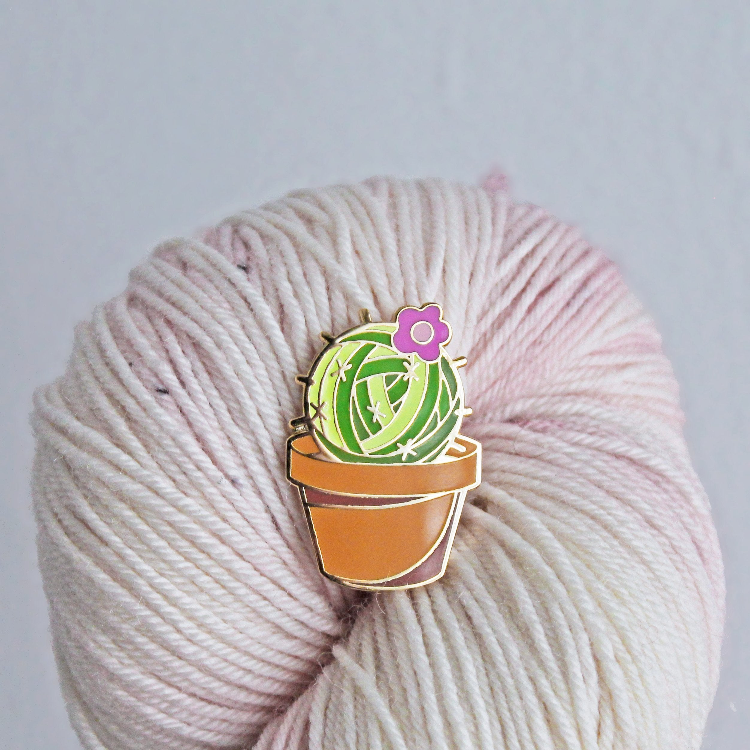 Prickly Yarn Enamel Pin