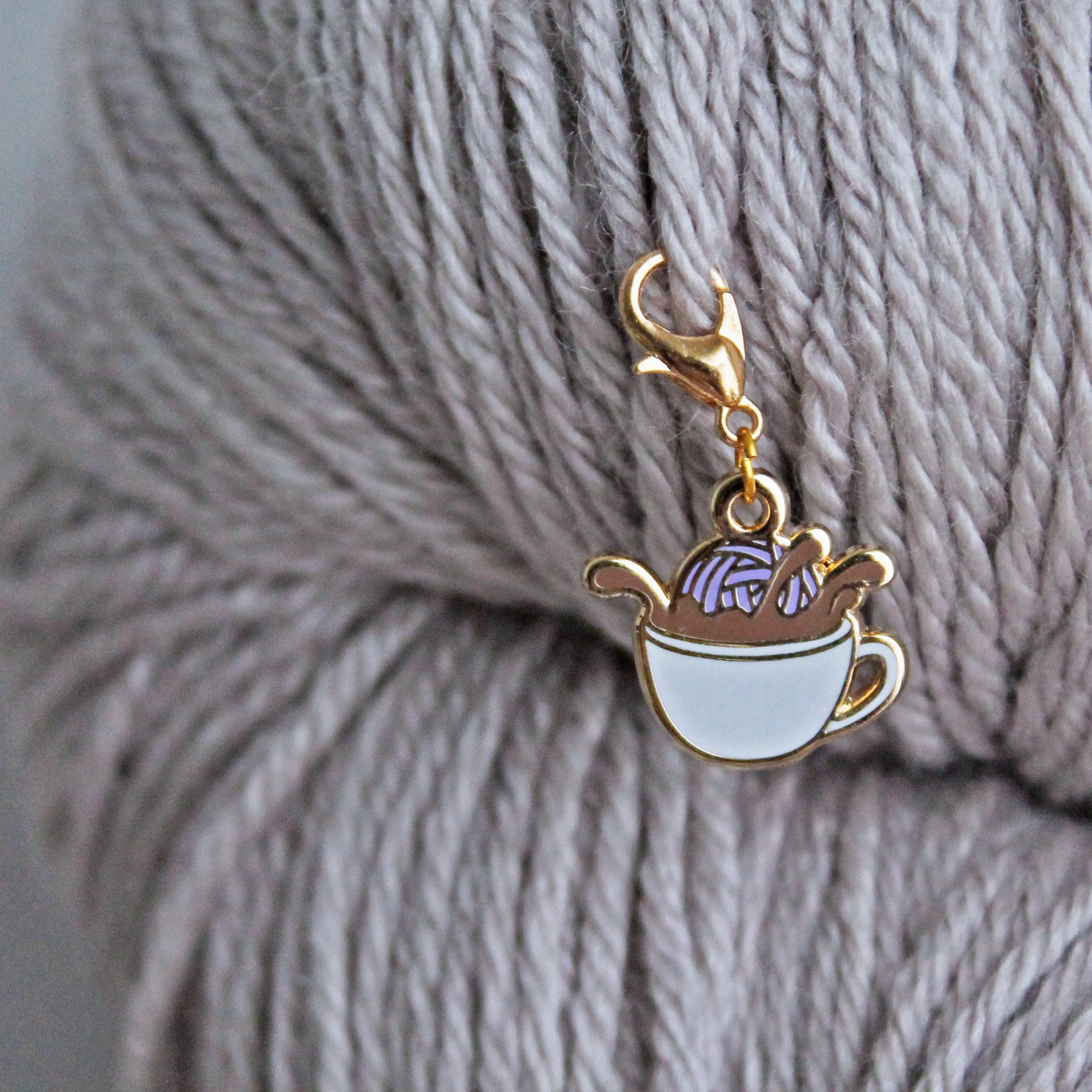*Coffee Dunk Keeper / Stitch Marker *Seconds