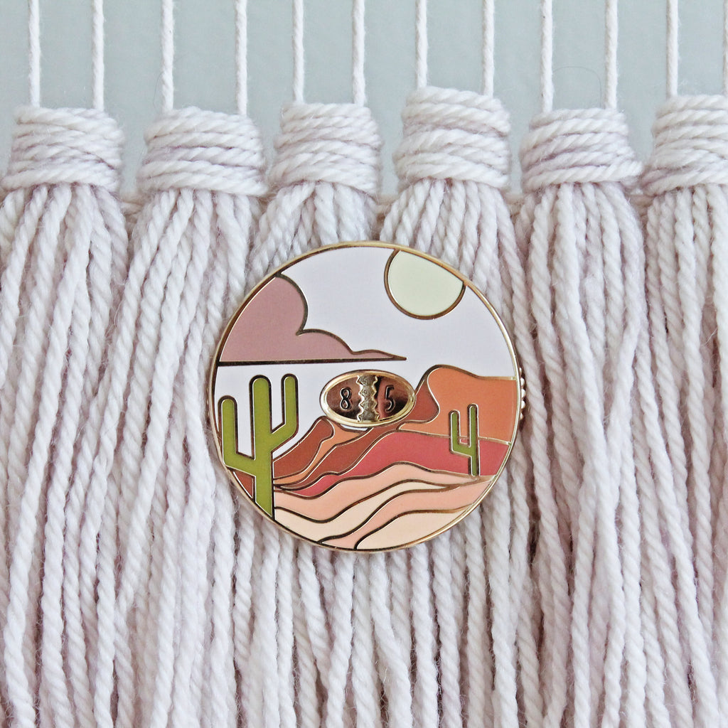 Desertscape Row Counter Enamel Pin