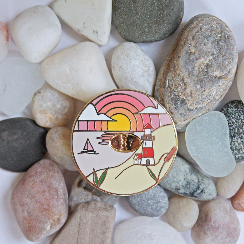 Seascape Row Counter Enamel Pin