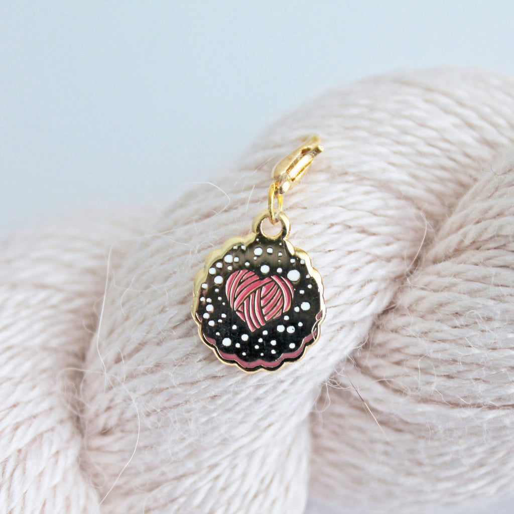 *Linzer Cookie Keeper / Stitch Marker *Seconds