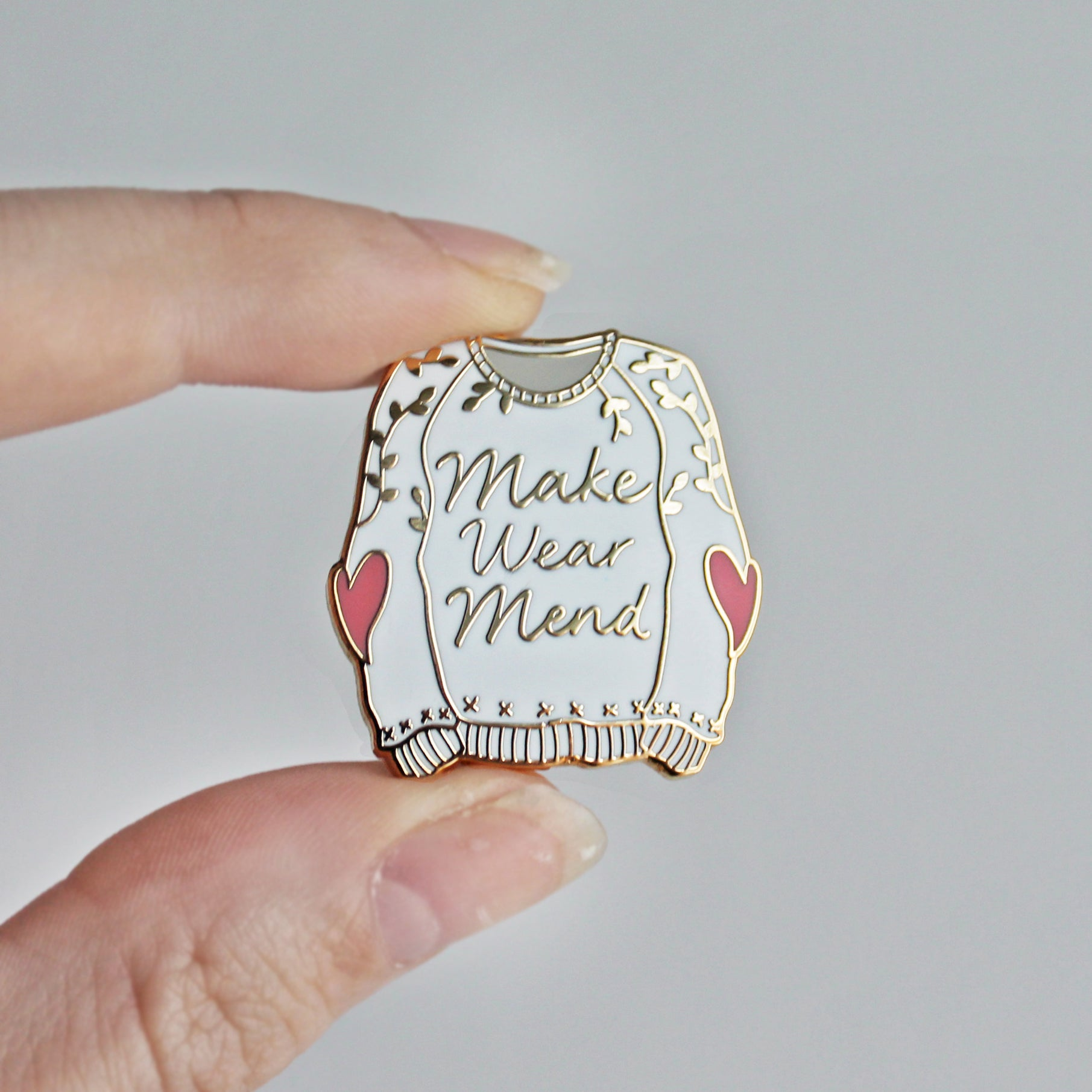 *Make Wear Mend Enamel Pin *Seconds