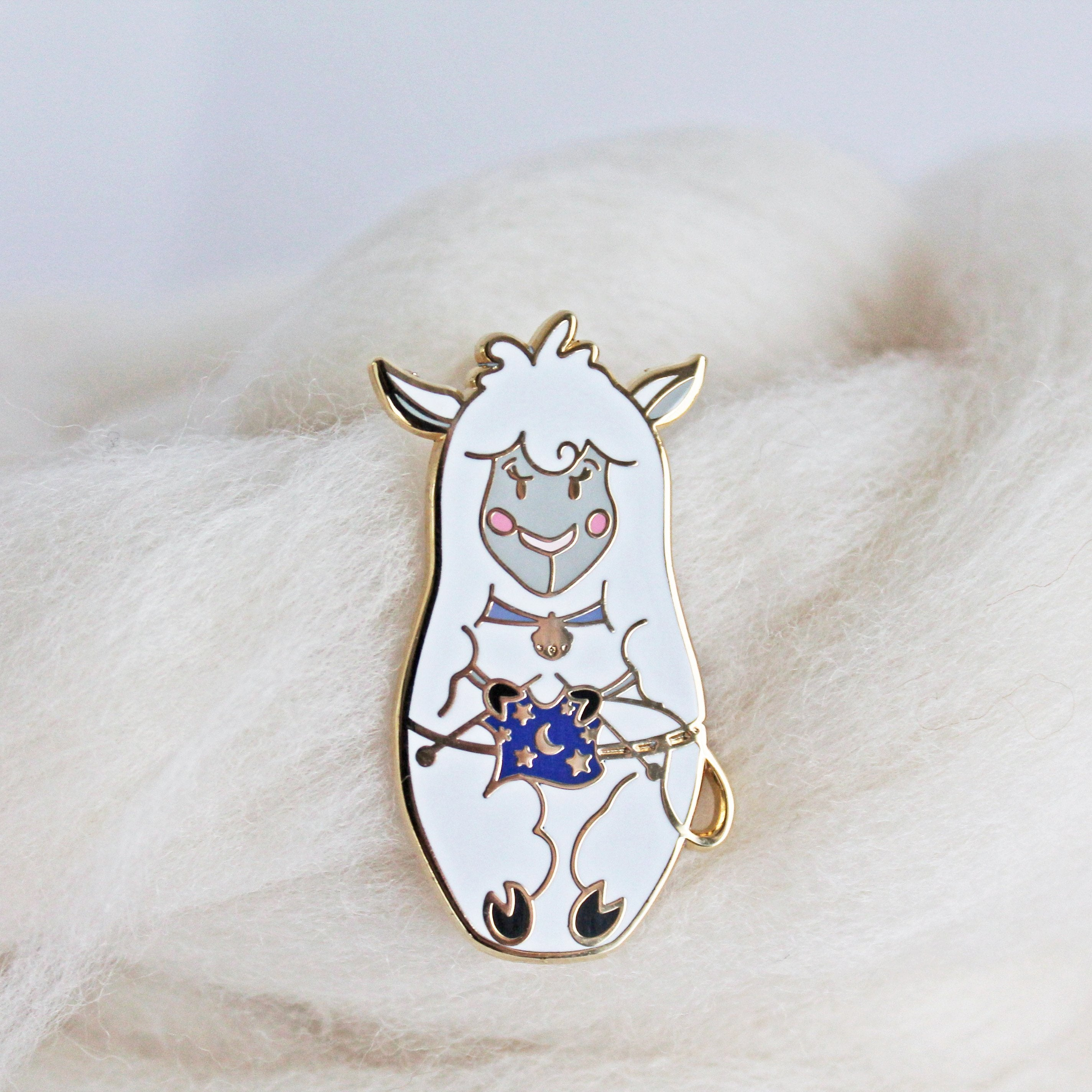 *Sheep Russian Doll Enamel Pin *Seconds