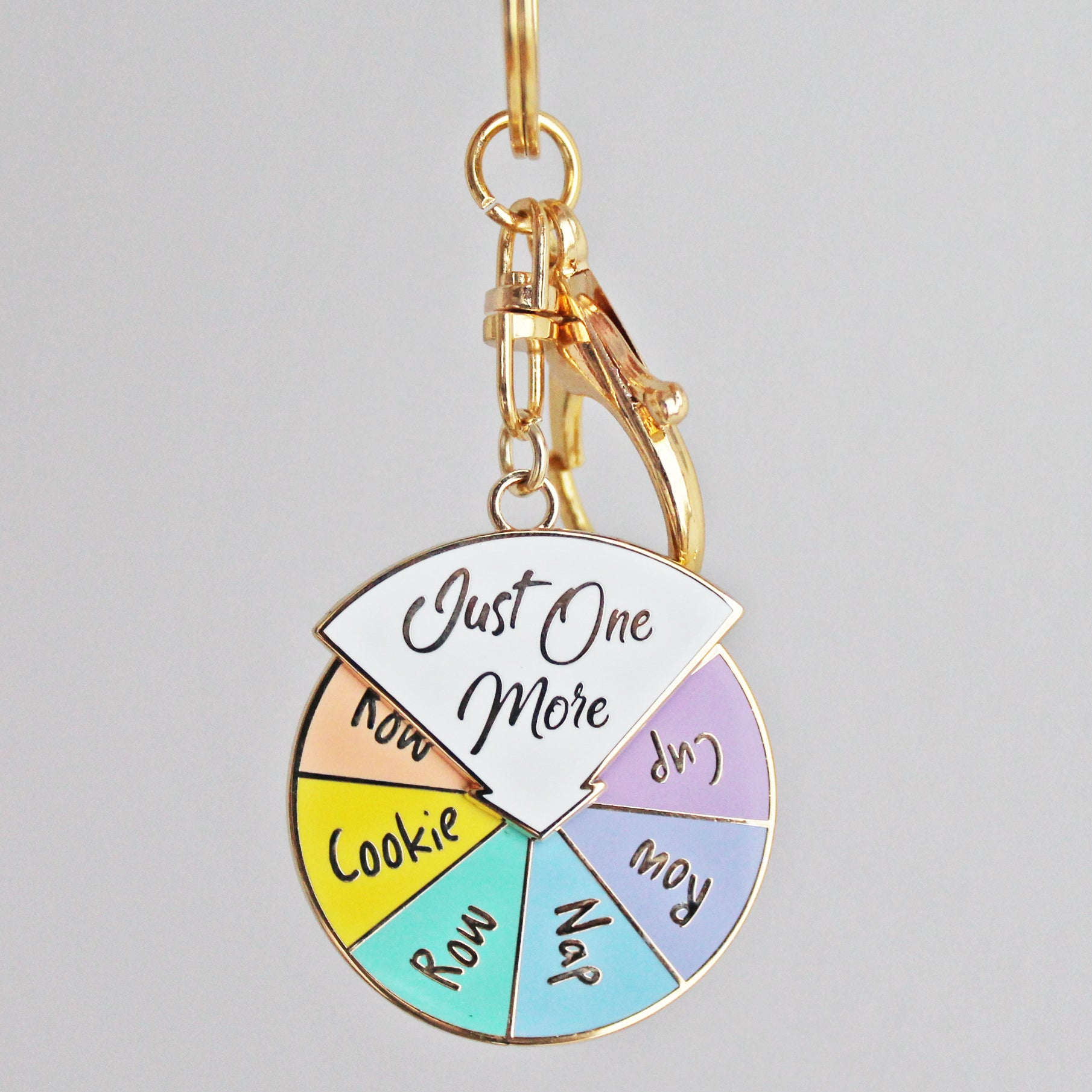 'Just One More' Spinner Keychain