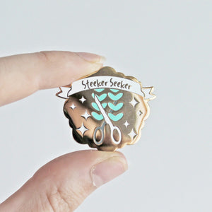Steeker Seeker Enamel Pin