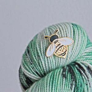 Woolly Bee Enamel Pin