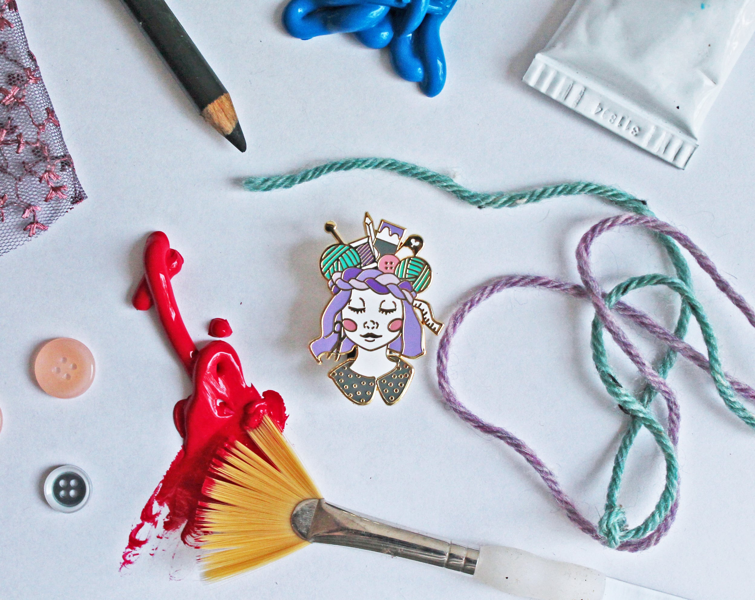 Craft Queen Enamel Pin