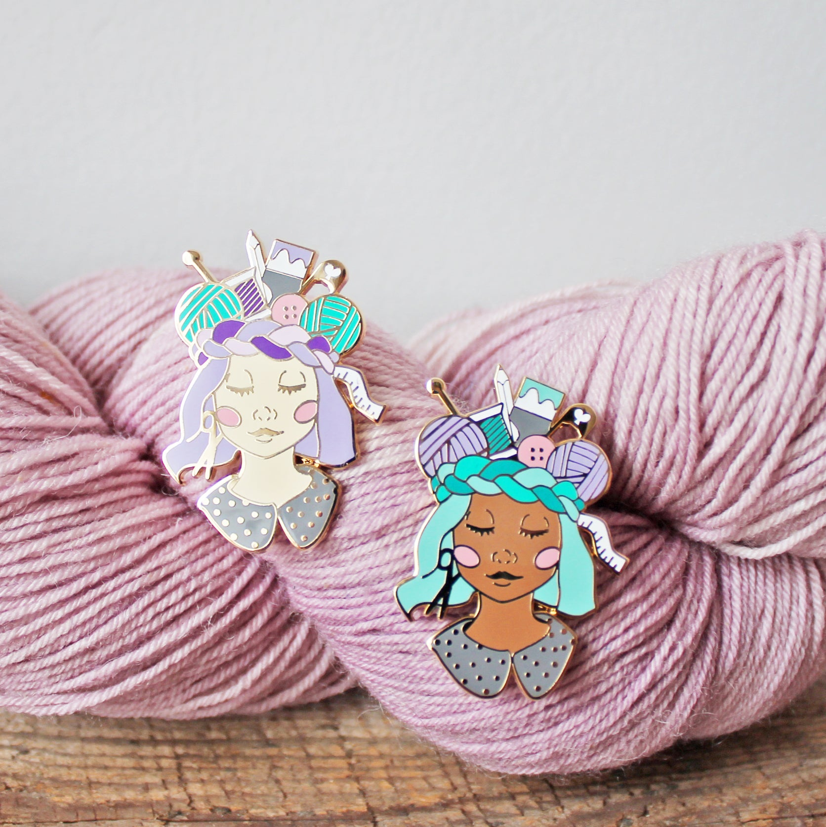 Craft Queen Enamel Pin - New Skin Tones!