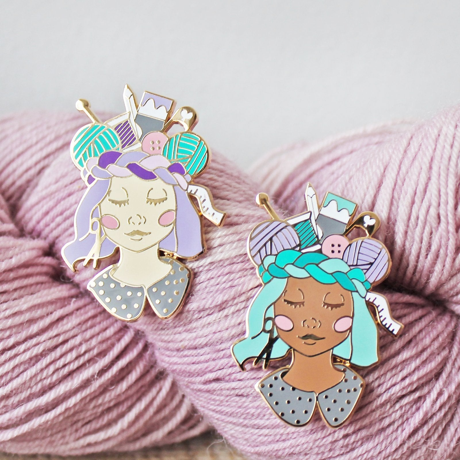 *Craft Queen Enamel Pin - Skin Tones *Seconds